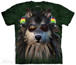Image for The Mountain T-Shirt - Rasta Wolf