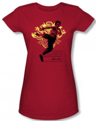 Image for Bruce Lee Girls T-Shirt - Immortal Dragon T-Shirt