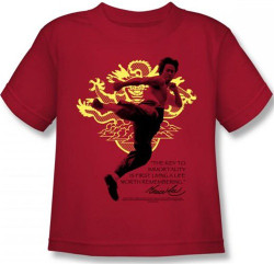 Image for Bruce Lee Kids T-Shirt - Immortal Dragon