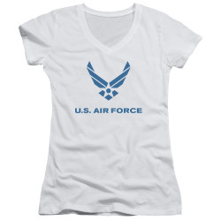 Image for U.S. Air Force Girls V Neck - Distressed Logo