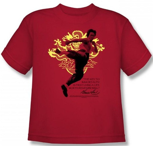 b5e7e9d4a Bruce Lee Youth T-Shirt - Immortal Dragon. Loading zoom. Hover over image to  zoom