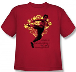 Image for Bruce Lee Youth T-Shirt - Immortal Dragon