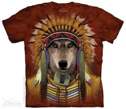 Image for The Mountain T-Shirt - Wolf Spirit Chief