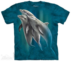 Image for The Mountain T-Shirt - Three Dolphins
