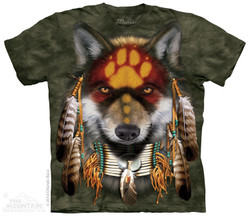 Image for The Mountain T-Shirt - Native Wolf Spirit