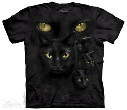 Image for The Mountain T-Shirt - Black Cat Moon