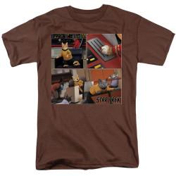 Image for Star Trek Cats T-Shirt - Warp Speed Triptuch