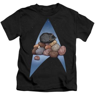 Image for Star Trek Cats Kids T-Shirt - Five Year Nap