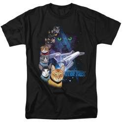 Image for Star Trek Cats T-Shirt - Feline Galaxy