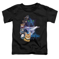 Image for Star Trek Cats Toddler T-Shirt - Feline Galaxy