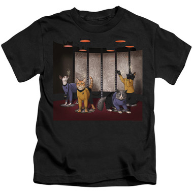 Image for Star Trek Cats Kids T-Shirt - Beam Meow Up