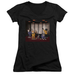 Image for Star Trek Cats Girls V Neck T-Shirt - Beam Meow Up