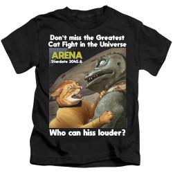 Image for Star Trek Cats Kids T-Shirt - Cat Fight