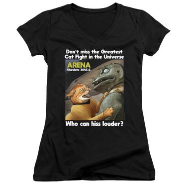 Image for Star Trek Cats Girls V Neck T-Shirt - Cat Fight