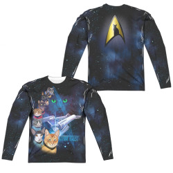 Image for Star Trek Cats Sublimated Long Sleeve - Cast of Cats