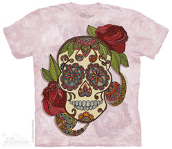 Image for The Mountain T-Shirt - Paisley Sugar Skull