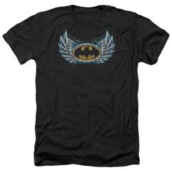 Image for Batman Heather T-Shirt - Steel Wings Logo