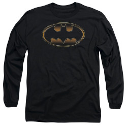 Image for Batman Long Sleeve T-Shirt - Black & Gold Embossed