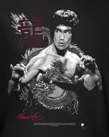 583ef01e0 Bruce Lee T-Shirt - The Dragon - NerdKungFu