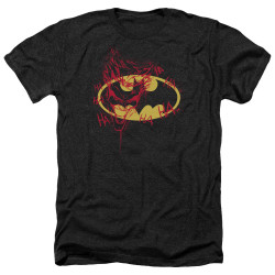 Image for Batman Heather T-Shirt - Joker Graffiti
