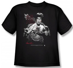 Image for Bruce Lee Youth T-Shirt - The Dragon