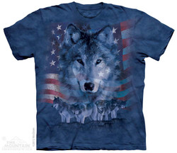 Image for The Mountain T-Shirt - Patriotic Wolfpack