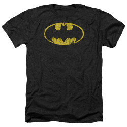 Image for Batman Heather T-Shirt - Classic Logo Distressed