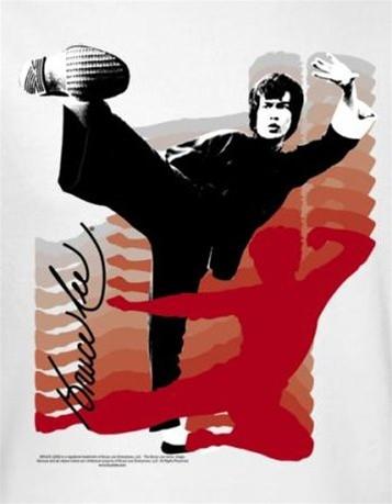 79e667b04 Bruce Lee T-Shirt - Kick It! - NerdKungFu