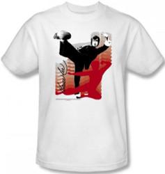 Image Closeup for Bruce Lee T-Shirt - Kick It!