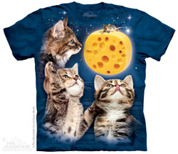 Image for The Mountain T-Shirt - Three Kitten Cheese Moon