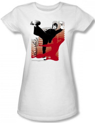 Image for Bruce Lee Girls T-Shirt - Kick It! T-Shirt