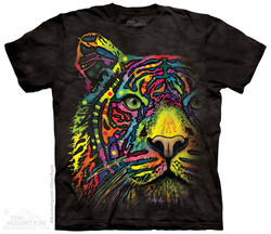 Image for The Mountain T-Shirt - Rainbow Tiger