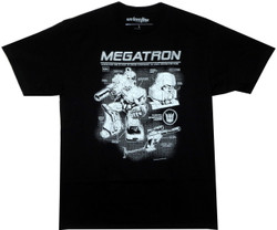 Image Closeup for Transformers T-Shirt - Megatron Tech Specs