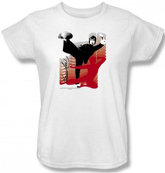 Image for Bruce Lee Womans T-Shirt - Kick It!