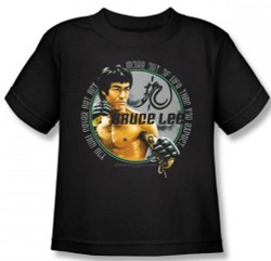 Image for Bruce Lee Kids T-Shirt - Expectations