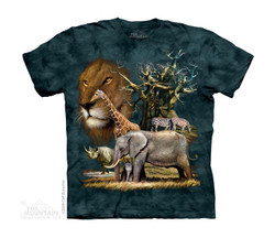 Image for The Mountain Youth T-Shirt - Africa Collage
