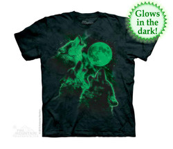 Image for The Mountain Youth T-Shirt - Three Wolf Moon Glow