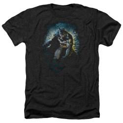 Image for Batman Heather T-Shirt - Bat Cave