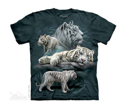 Image for The Mountain Youth T-Shirt - White Tiger Collage