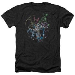 Image for Batman Heather T-Shirt - Surrounded