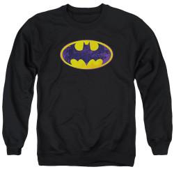 Image for Batman Crewneck - BM Neon Distress Logo