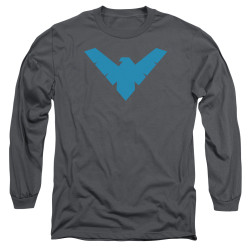 Image for Batman Long Sleeve T-Shirt - Nightwing Symbol Charcoal
