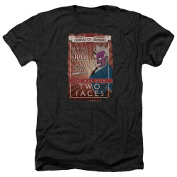 Image for Batman Heather T-Shirt - Two Faces