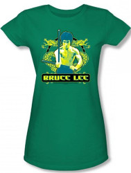 Image for Bruce Lee Girls T-Shirt - Double Dragons T-Shirt
