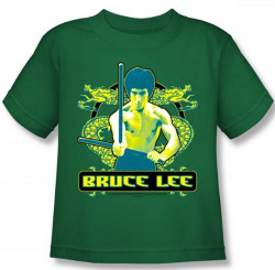 Image for Bruce Lee Kids T-Shirt - Double Dragons