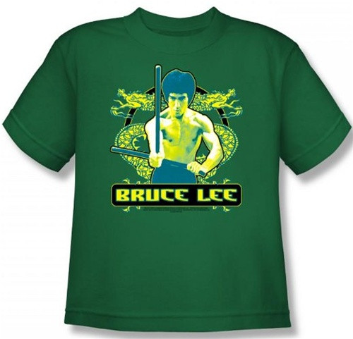 8a44d9a9d Bruce Lee Youth T-Shirt - Double Dragons - NerdKungFu