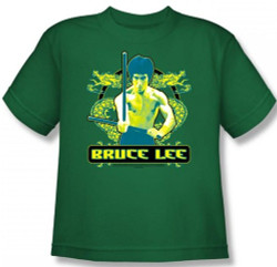 Image for Bruce Lee Youth T-Shirt - Double Dragons