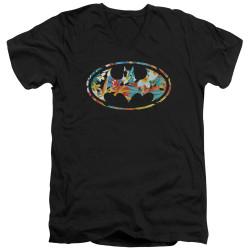 Image for Batman T-Shirt - V Neck - Hawaiian Bat