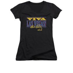 Image for Elvis Girls V Neck T-Shirt - Viva Las Vegas