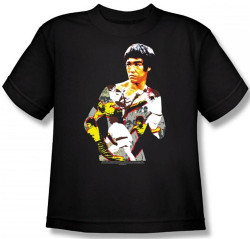 Image for Bruce Lee Youth T-Shirt - Body of Action